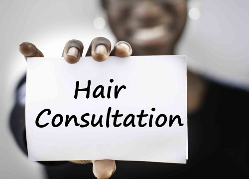 Hair Consultation at Crown Worthy